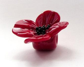 Original Handmade Lampwork Glass Beads Flower