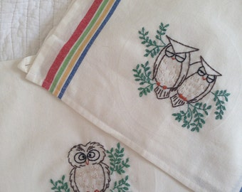 Hooty Owl Kitchen Towels (Set of 2)