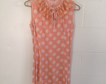 Mod Retro 1950's Polka Dot Hipster Dress Zooey Deschanel Style