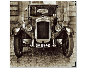 Vintage Photography, Retro photography, vintage car, decor, Fine Art Photography - Quite a Ride, Distressed Sepia
