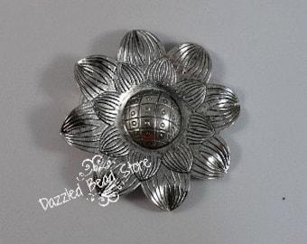 54mm pewter SUNFLOWER pendant