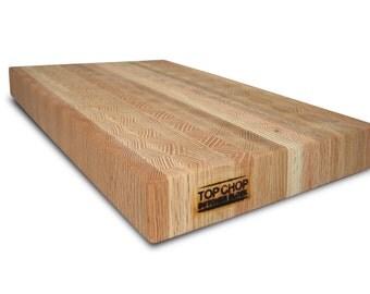 Butcher Block Premium Reversible End Grain Oak Cutting Board -  Oak Butcher Block