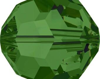 Swarovski Crystal Round Beads 5000 - 3mm 4mm 6mm 8mm - Fern Green