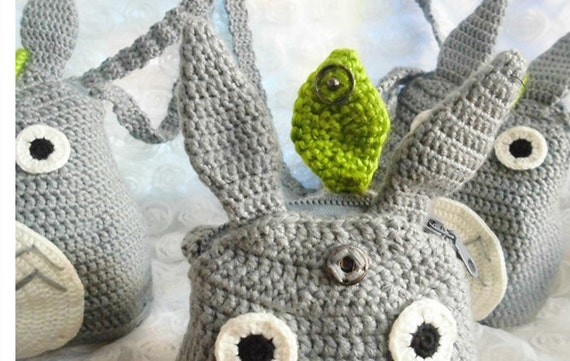 My Neighbor Totoro kawaii Totoro crochet backpackcrochet
