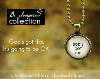 Quote Necklace - God's Got This