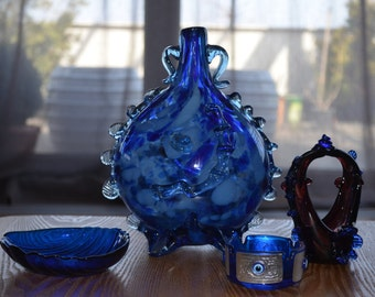 Blue Cobalt Ashtray