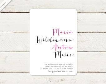 50 x wedding invitation | Typo No 5
