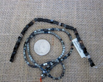 Hematite and agate bead strands