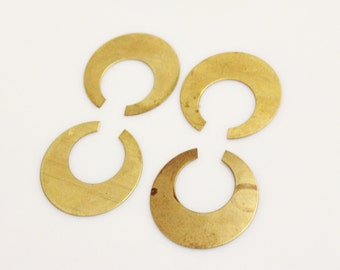 Brass Jewelry Findings, Brass Blanks, Vintage Jewelry Components Made in USA (FDS-104)