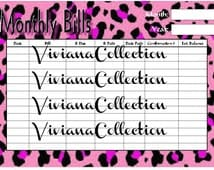 Monthly Bill Printable