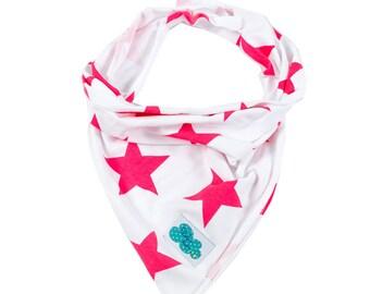 Foulard. Star red love