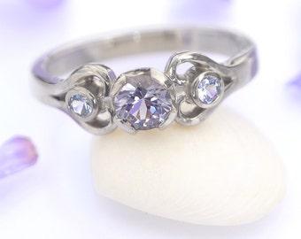 Hearts Engagement Ring - Choice of gemstones - DEPOSIT LISTING