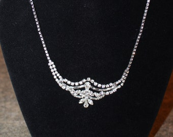 Rhinestone Bridal Necklace and earrings, Bridal jewelry set, wedding jewelry