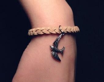 Braided Bird Sparrow Bracelet