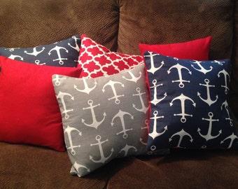 Nautical Anchor decorative pillows