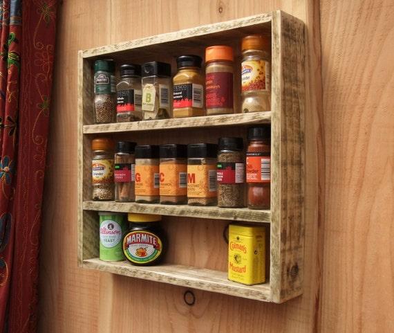tag re pices rustique tag re de cuisine en bois de. Black Bedroom Furniture Sets. Home Design Ideas