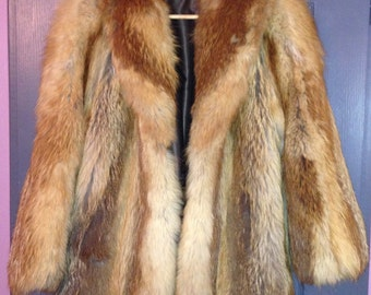 PRICE REDUCING coat fox fur
