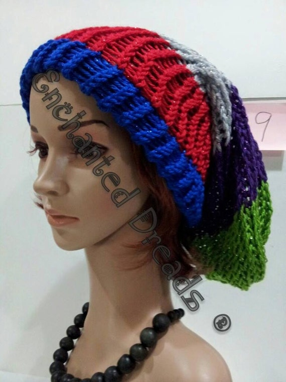 6f174e40bc2 Multi Colored Slouchy Hats by EnchantedDreads on Etsy