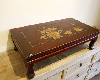 Antique Chinese Tea Table, Small Vintage Table, Tea Ceremony- Asian Furniture Strange Importd
