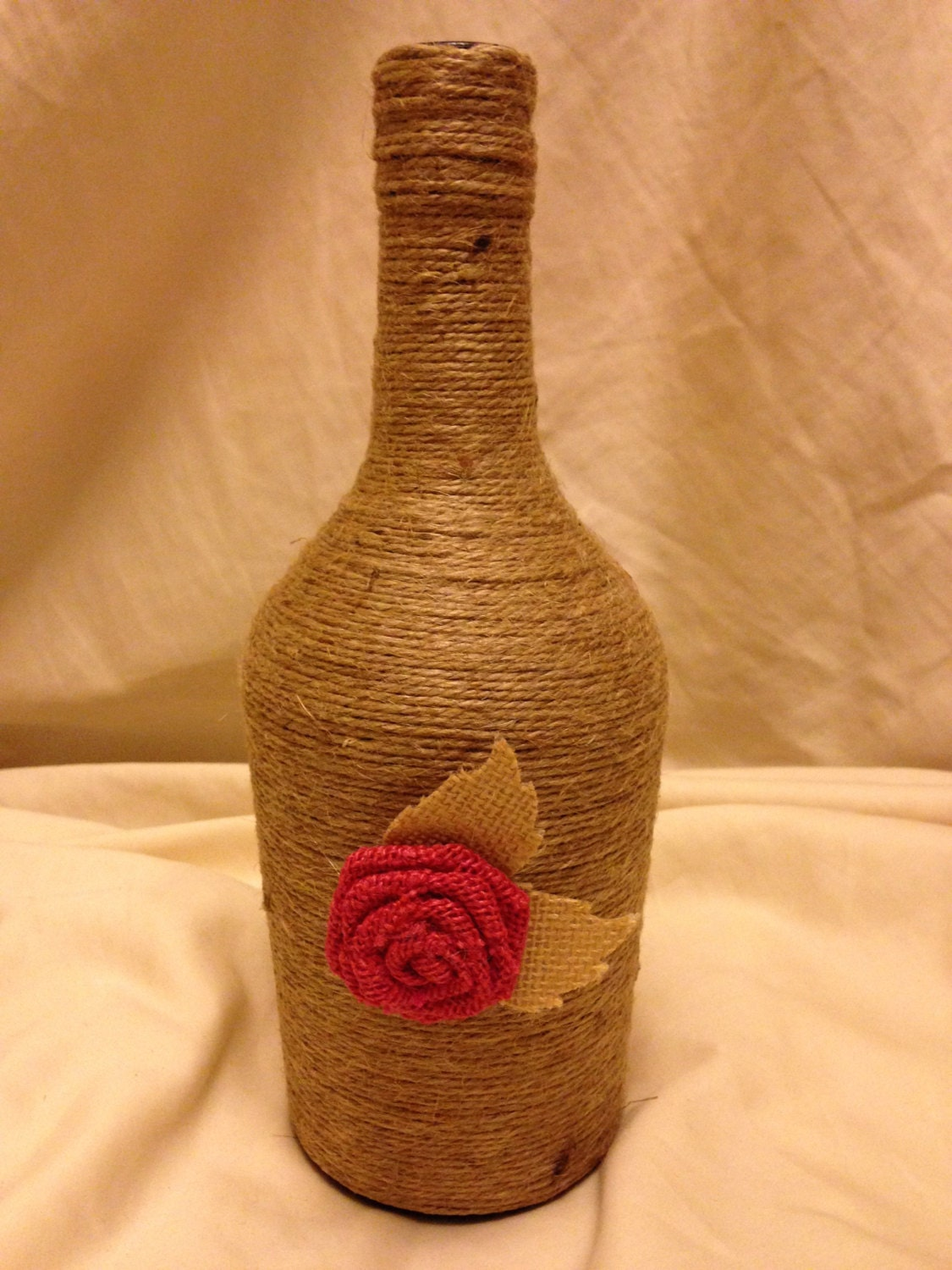 Love Twine Wrapped Wine Bottles |Twine Covered Wine Bottles