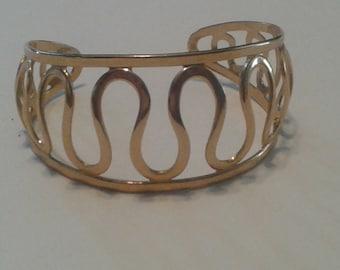 "Sarah Coventry ""Golden Nile"" Cuff Bracelet"