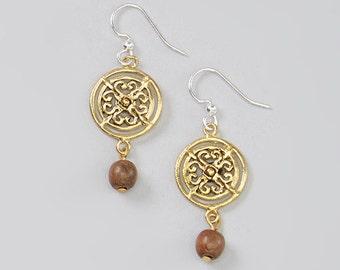 Maya Wood Drop Earrings