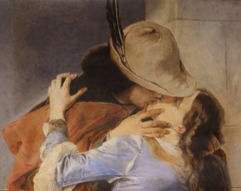 """Reproduction of a detail of """"the Kiss"""" by Francesco Hayez"""