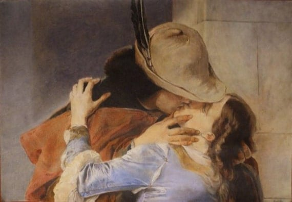 "Reproduction of famous paintings (example of ""the Kiss"" by Francesco Hayez)"