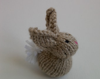 Knit Bunny Rabbit - brown
