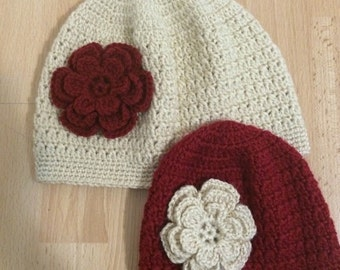 Mommy and Me Hat, Mother daughter Hat Set