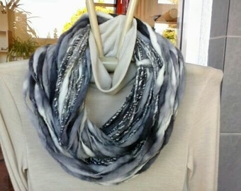 New Zealand Merino wool Scarf ,Hand dyed & Handspun yarn