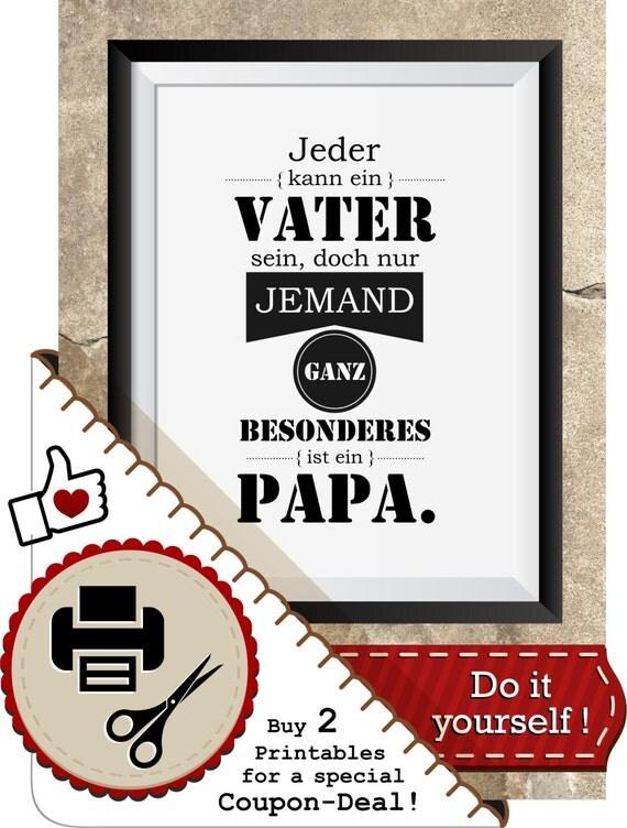 spruch printable vater und papa von animoartshop auf etsy. Black Bedroom Furniture Sets. Home Design Ideas