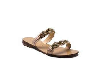 Agrigento - Handcrafted Leather Sandal,Slipper and Flip flop