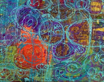Wishing, Original Artwork 36 x 24 Abstract Painting By Martha Brito