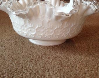 Vintage Fenton Milk Bowl