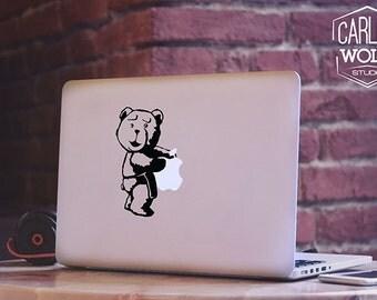Macbook decal/ Creative Vinyl sticker/ Ted movie decal