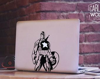 Macbook decal/ Captain America/ Macbook Sticker