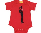 Michael Jackson onepiece bodysuit creeper  Rocker baby shower gift infant unisex children clothing