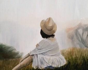"Peace. 16"" x 20"" original oil painting."