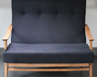 Mid Century upcycled Cintique 1960's Two Seater Sofa