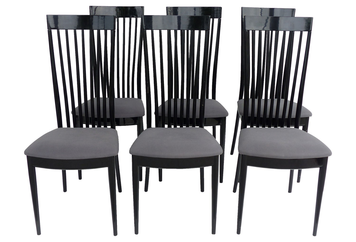 Set Of 6 High Back Dining Chairs By Pietro Costantini For Ello Furniture