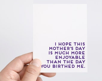 Funny Mother's Day Card | Honest Mother's Day Card | Happy Mother's Day | Mother's Day From Kids