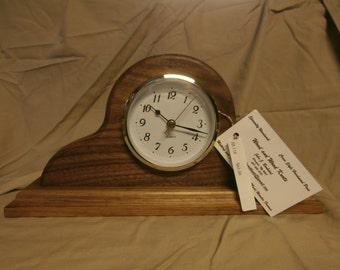 Black Walnut Desk/Mantle Clock