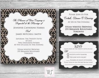 Madison Wedding Invitation Set - Digital Download