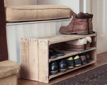 Wooden Shoe Rack - Handmade Pallet Furniture