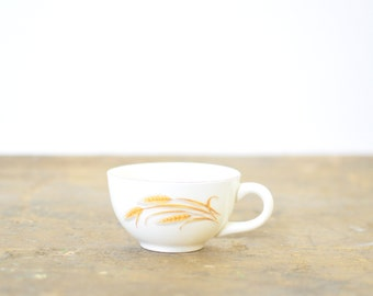 Vintage Coffee Cup with Wheat Decal