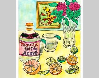 The Spring is Here! With Orange, Lemon, Lime and Tequila!