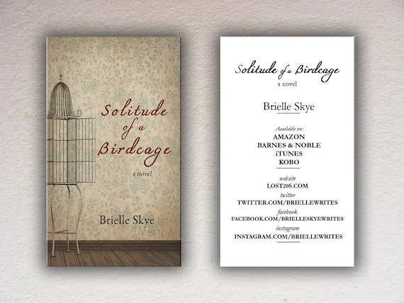 Book Cover Business Cards : Basic book cover custom business card design template
