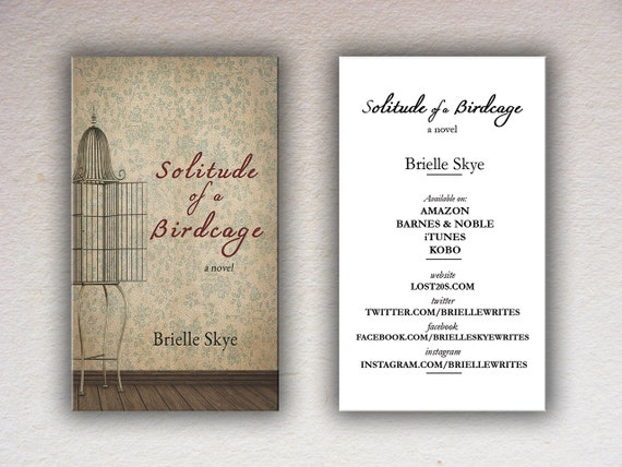 Book Cover Design Basics : Basic book cover custom business card design template