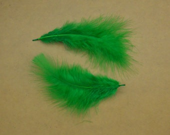 50pcs Feather,turkey Feather,green Feather,green Craft Feathers,Loose Feathers, Wholesale Feathers  about 6 inches